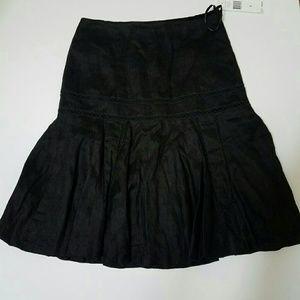 4 Black Linen Ralph Lauren Skirt